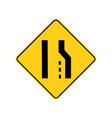 usa traffic road signsright lane ends aheadif vector image vector image