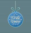 vesele vanoce greeting card in heart form vector image vector image