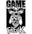 video game skull vector image