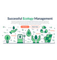 web site header - successful ecology management vector image vector image