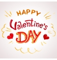 Happy Valentines day watercolor lettering vector image