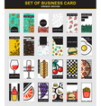 Set of 24 stylish business card design for food vector image