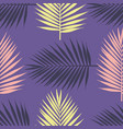 ultra violet tropical palm leaves seamless vector image