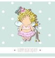a fairy with magic stick vector image vector image