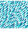 abstract hand drawn wavy strokes blue vector image vector image