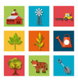 agriculture production set icons vector image vector image
