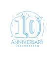 anniversary 10 3d number twenty with sparkles vector image