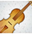Background with violin vector image vector image