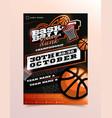 basketball sport flyer vertical card poster vector image