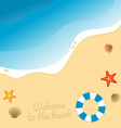 Beach graphic vector image