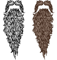 Beard and mustache vector image vector image