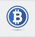 bitcoin symbol in flat design for internet money vector image