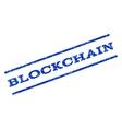Blockchain Watermark Stamp vector image