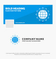 blue business logo template for world globe seo vector image vector image