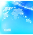 Blue image of globe Globalization concept vector image vector image
