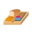 bread fresh bakery vector image vector image