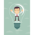 Businessman create idea vector image