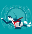 businessman in a hurry time concept business vector image