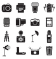 Camera and accessory icon set vector image