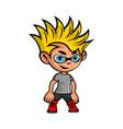 cartoon boy mascot logo vector image vector image
