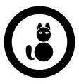 cat icon black color simple image vector image vector image