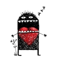 Character Monster in Love with Red Heart vector image vector image