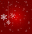 christmas with several hanging vector image vector image
