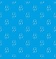 clown mask pattern seamless blue vector image