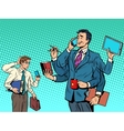 Cool successful businessman and a loser vector image vector image