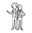couple standing man and woman together people vector image vector image