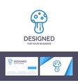 creative business card and logo template mushroom vector image