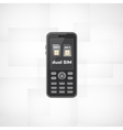 Dual sim phone vector image vector image