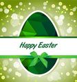 Easter polygonal green eggs greeting card vector image vector image