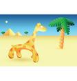 egyptian giraffe vector image vector image