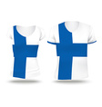 Flag shirt design of Finland vector image vector image