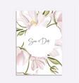 Floral tender soft magnolia wedding invitation