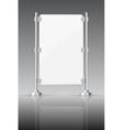 Glass screen with metal racks vector image vector image