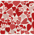 Grunge heart seamless pattern vector image