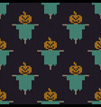 halloween knitted pattern seamless knitting vector image