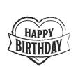 Happy birthday badge vector image vector image