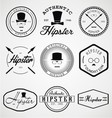 Hipster Badges Labels vector image