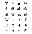 Human Icons 3 vector image vector image