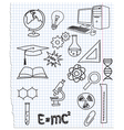 Icons a science vector image