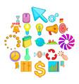 idea icons set cartoon style vector image
