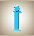 info sign sky blue icon with defected vector image vector image