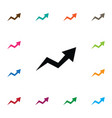 isolated arrow up icon increase element vector image vector image