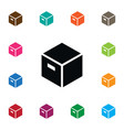 isolated carton icon parcel element can be vector image