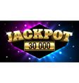 jackpot gambling casino money games banner vector image