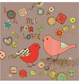 Love birds background vector | Price: 1 Credit (USD $1)
