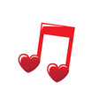love music sounds in the heart vector image vector image